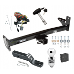 "Trailer Tow Hitch For 98-01 Honda Passport Isuzu Rodeo w/Door Spare Deluxe PKG Wiring 2"" Ball and Lock"