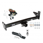 "Trailer Tow Hitch For 98-01 Honda Passport Isuzu Rodeo w/Door Spare Package w/ Wiring and 2"" Ball"