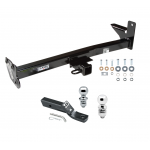 "Trailer Tow Hitch For 98-01 Honda Passport Isuzu Rodeo w/Door Spare Receiver w/ 1-7/8"" and 2"" Ball"