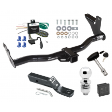 """Trailer Tow Hitch For 02-03 Isuzu Axiom w/Under Vehicle Spare Deluxe Package Wiring 2"""" Ball and Lock"""