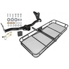 Trailer Tow Hitch For 98-04 Honda Passport Axiom Rodeo Basket Cargo Carrier Platform Hitch Lock and Cover