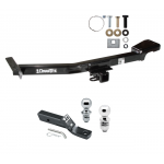 """Trailer Tow Hitch For 98-07 Toyota Land Cruiser Lexus LX470 Receiver w/ 1-7/8"""" and 2"""" Ball"""