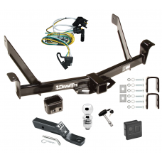 "Trailer Tow Hitch For 01-02 Ford Explorer 2 Dr. Sport Deluxe Package Wiring 2"" Ball and Lock"