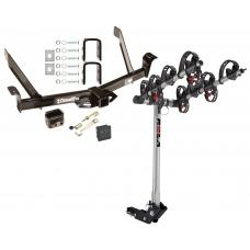 Trailer Tow Hitch For 91-03 Ford Explorer Navajo Mountaineer 4 Bike Rack w/ Hitch Lock and Cover