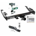 "Trailer Tow Hitch For 88-00 Chevy GMC C1500 C2500 C3500 K1500 K2500 K3500 PKG w/ Wiring and 2"" Ball"