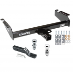 """Trailer Tow Hitch For 94-02 Dodge Ram 1500 2500 3500 Receiver w/ 1-7/8"""" and 2"""" Ball"""