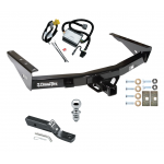 "Trailer Tow Hitch For 2000 Toyota Tundra without Factory Towable Bumper Complete Package w/ Wiring and 1-7/8"" Ball"