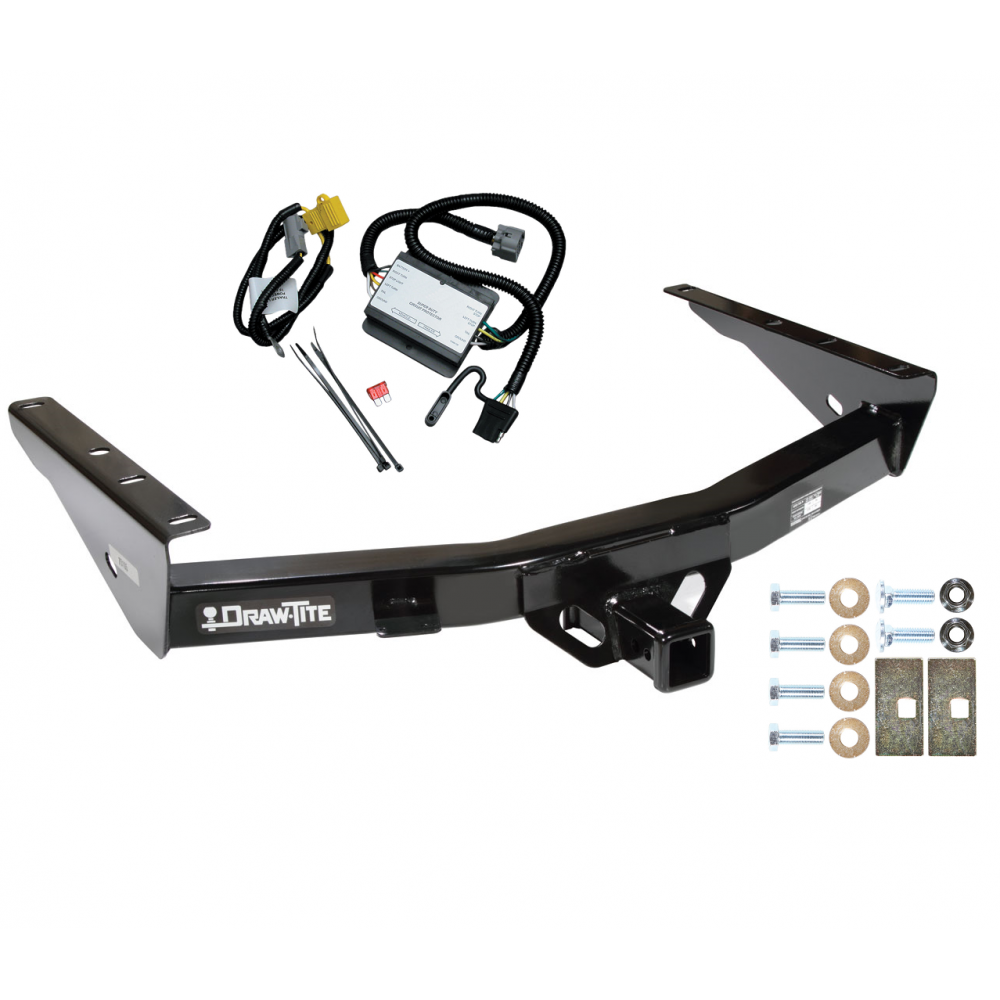 trailer tow hitch for 2000 toyota tundra without factory towable bumper w/ wiring  harness kit  trailerjacks.com