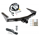 "Trailer Tow Hitch For 01-02 Toyota Tundra without Factory Towable Bumper Complete Package w/ Wiring and 1-7/8"" Ball"