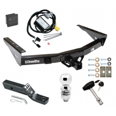 """Trailer Tow Hitch For 01-02 Toyota Tundra Deluxe Package Wiring 2"""" Ball and Lock"""