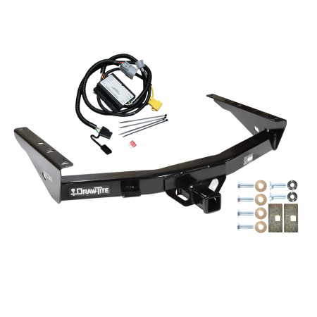 Trailer Tow Hitch For 01-02 Toyota Tundra without Factory Towable Bumper w/  Wiring Harness KitTrailerJacks.com