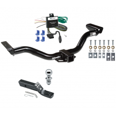"""Trailer Tow Hitch For 00-04 Nissan Xterra Complete Package w/ Wiring and 1-7/8"""" Ball"""