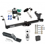 "Trailer Tow Hitch For 00-03 Mazda MPV Except w/Ground Effects Deluxe Package Wiring 2"" Ball and Lock"
