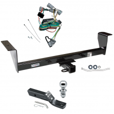 """Trailer Tow Hitch For 01-06 Mitsubishi Montero Except Sport Complete Package w/ Wiring and 1-7/8"""" Ball"""