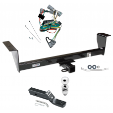 """Trailer Tow Hitch For 01-06 Mitsubishi Montero Except Sport Complete Package w/ Wiring and 2"""" Ball"""