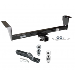 "Trailer Tow Hitch For 01-06 Mitsubishi Montero Except Sport Receiver w/ 1-7/8"" and 2"" Ball"