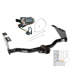 Trailer Tow Hitch For 96-00 Chrysler Town Country Dodge Grand Caravan w/ Wiring Harness Kit