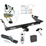 "Trailer Tow Hitch For 87-95 Chevy G10 G20 G30 GMC G1500 G2500 G3500 Package Wiring 2"" Ball and Lock"