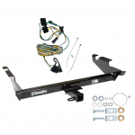 Trailer Tow Hitch For 87-95 Chevy G10 G20 G30 GMC G1500 G2500 G3500 w/ Wiring Harness Kit