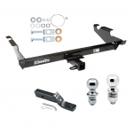 "Trailer Tow Hitch For 78-96 Chevy G10 G20 G30 GMC G1500 G2500 G3500 Receiver w/ 1-7/8"" and 2"" Ball"