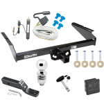 """Trailer Tow Hitch For 90-05 Chevy Astro GMC Safari Extended Body Deluxe Package Wiring 2"""" Ball and Lock"""