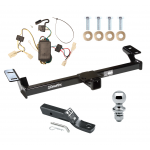 "Trailer Tow Hitch For 01-05 Toyota RAV4 Complete Package w/ Wiring and 1-7/8"" Ball"