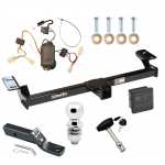 """Trailer Tow Hitch For 01-05 Toyota RAV4 Deluxe Package Wiring 2"""" Ball and Lock"""