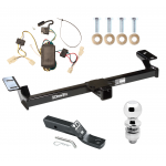 """Trailer Tow Hitch For 01-05 Toyota RAV4 Complete Package w/ Wiring and 2"""" Ball"""