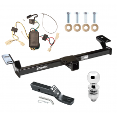 "Trailer Tow Hitch For 01-05 Toyota RAV4 Complete Package w/ Wiring and 2"" Ball"