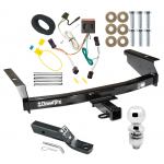 "Trailer Tow Hitch For 02-07 Jeep Liberty Complete Package w/ Wiring and 2"" Ball"