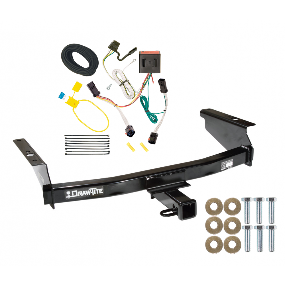 Trailer Tow Hitch For 02-07 Jeep Liberty w/ Wiring Harness Kit  TrailerJacks.com