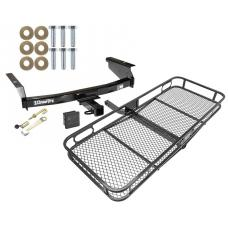 Trailer Tow Hitch For 02-07 Jeep Liberty All Styles Basket Cargo Carrier Platform Hitch Lock and Cover