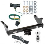 "Trailer Tow Hitch For 73-74 Chevy Blazer 75-84 K5 73-84 GMC Jimmy Package w/ Wiring and 2"" Ball"