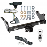 """Trailer Tow Hitch For 87-91 Chevy Blazer 85-86 K5 85-91 GMC Jimmy Package w/ Wiring and 2"""" Ball"""