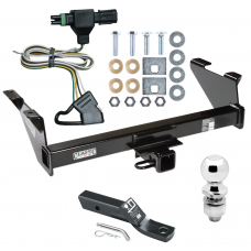 "Trailer Tow Hitch For 87-91 Chevy Blazer 85-86 K5 85-91 GMC Jimmy Package w/ Wiring and 2"" Ball"