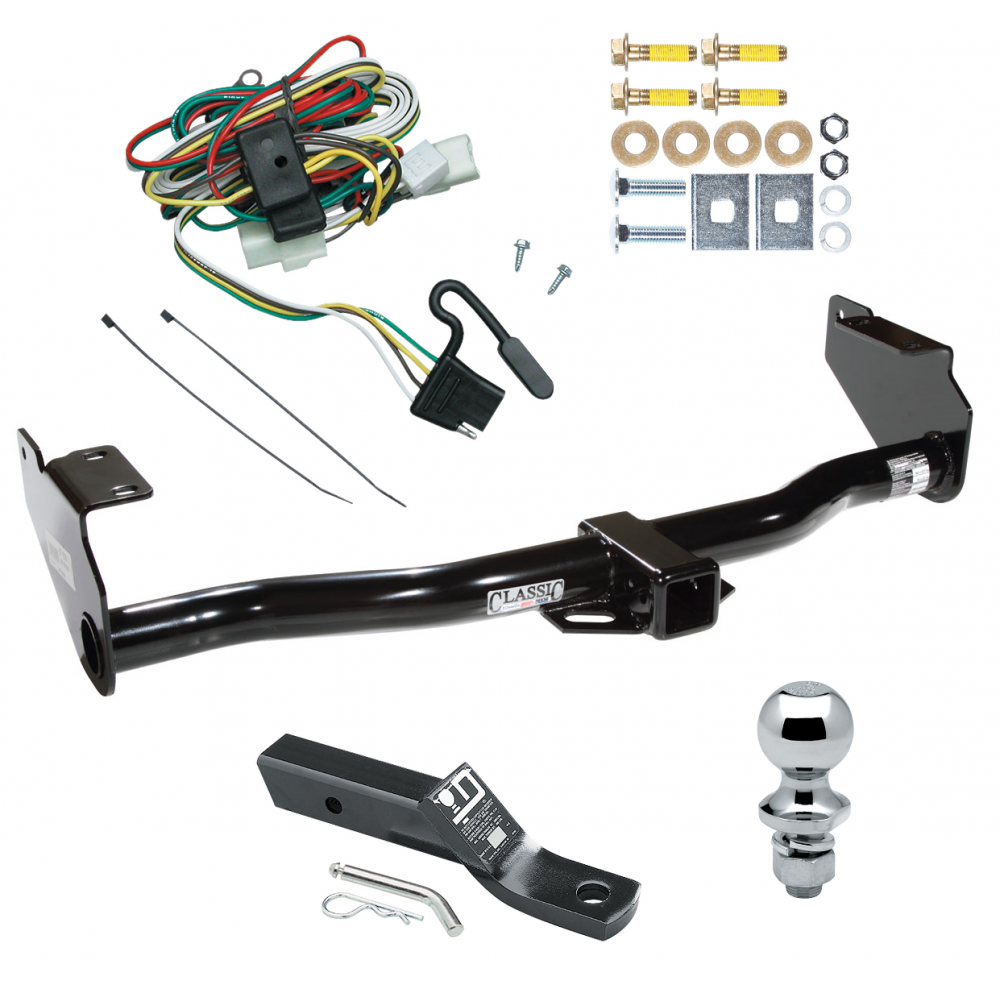 trailer tow hitch for 02 05 kia sedona complete package w. Black Bedroom Furniture Sets. Home Design Ideas