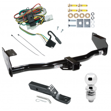 """Trailer Tow Hitch For 02-05 KIA Sedona Complete Package w/ Wiring and 2"""" Ball"""