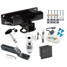 """Trailer Tow Hitch For 02-03 Dodge Ram 1500 Deluxe Package Wiring 2"""" Ball and Lock"""