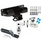 "Trailer Tow Hitch For 02-03 Dodge Ram 1500 Complete Package w/ Wiring and 2"" Ball"