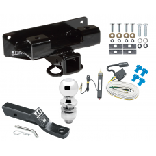 """Trailer Tow Hitch For 02-03 Dodge Ram 1500 Complete Package w/ Wiring and 2"""" Ball"""