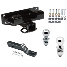 """Trailer Tow Hitch For 02-03 Dodge Ram 1500 Receiver w/ 1-7/8"""" and 2"""" Ball"""