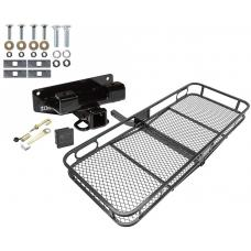 Trailer Tow Hitch For 02-03 Dodge Ram 1500 Basket Cargo Carrier Platform Hitch Lock and Cover