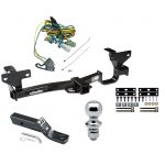 "Trailer Tow Hitch For 02-07 Buick Rendezvous 01-05 Pontiac Aztek Complete Package w/ Wiring and 1-7/8"" Ball"