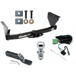 """Trailer Tow Hitch For 99-04 Jeep Grand Cherokee Complete Package w/ Wiring and 1-7/8"""" Ball"""
