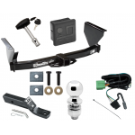 """Trailer Tow Hitch For 99-04 Jeep Grand Cherokee Deluxe Package Wiring 2"""" Ball and Lock"""