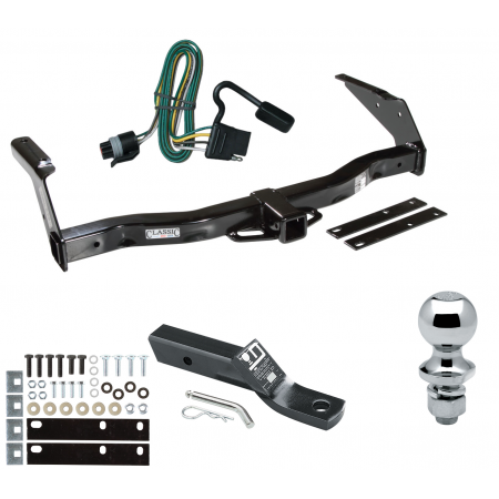 "Trailer Tow Hitch For 93-98 Dodge Van B150 B1500 B250 B2500 B350 B3500 Complete Package w/ Wiring and 1-7/8"" Ball"