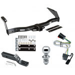 "Trailer Tow Hitch For 99-00 Dodge Van Ram 1500 2500 3500 Complete Package w/ Wiring and 1-7/8"" Ball"