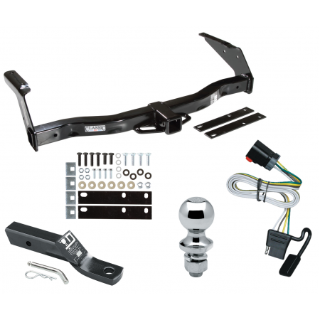 """Trailer Tow Hitch For 99-00 Dodge Van Ram 1500 2500 3500 Complete Package w/ Wiring and 1-7/8"""" Ball"""