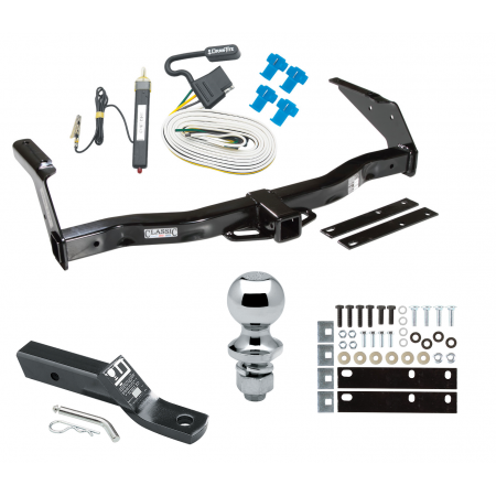 """Trailer Tow Hitch For 78-92 Dodge Van B100 B150 B200 B250 B300 B350 Complete Package w/ Wiring and 1-7/8"""" Ball"""
