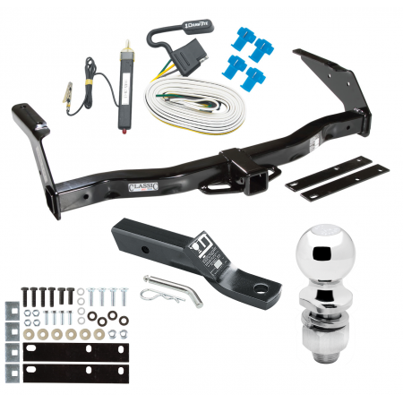 "Trailer Tow Hitch For 78-92 Dodge Van B100 B150 B200 B250 B300 B350 Complete Package w/ Wiring and 2"" Ball"